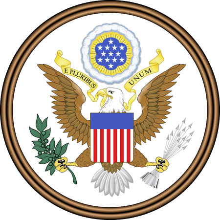 National coat of arms of the United States of America. Banco de Imagens