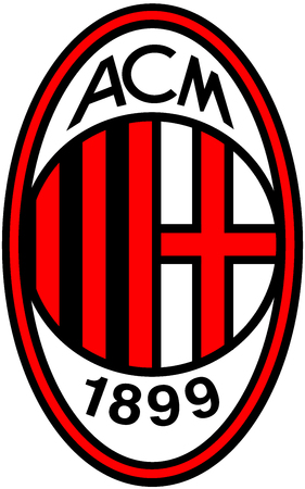 Logo of Italian football team AC Milan - Italy.