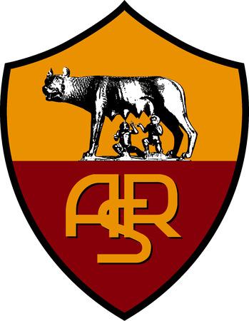Logo of Italian football AS Roma - Italy.