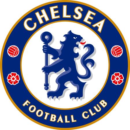 Logo of English football team FC Chelsea - Great Britain.