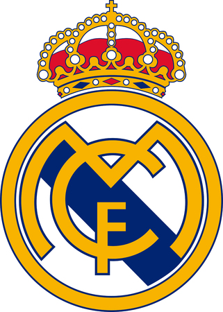 Logo of Spanish football team Real Madrid - Spain.