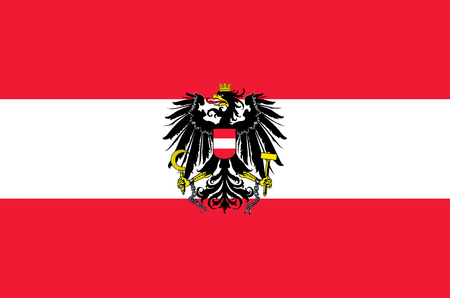 Federal service flag of the Republic of Austria with the national coat of arms.