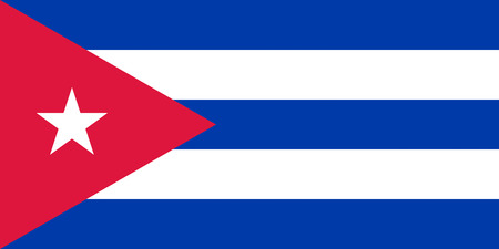 National flag of the Republic Cuba.