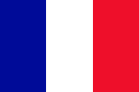 Flag of the French Republic. Banco de Imagens