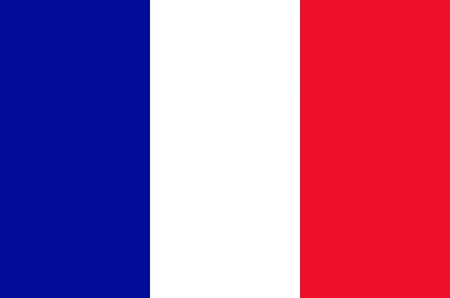 Vlag van de Franse Republiek. Stockfoto