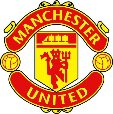 Logo of English football team Manchester United - United Kingdom.