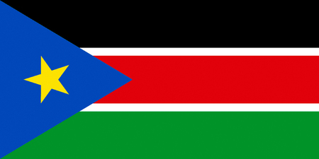 Flag of the Republic of South Sudan. 스톡 콘텐츠