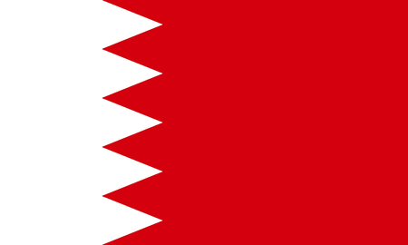 Flag of the Kingdom of Bahrain.