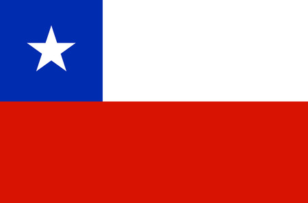 National flag of the republic of Chile.