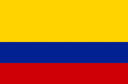 National flag of the Republic of Colombia. 写真素材