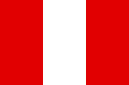 National flag of the Republic of Peru.