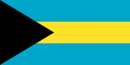 National flag of the Commonwealth of Bahamas. Reklamní fotografie