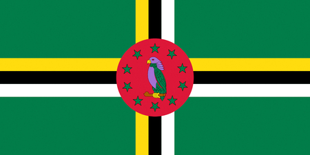 Flag of Dominica - Commonwealth of Nations.