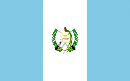 National flag of the Republic of Guatemala.