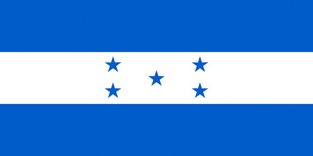 National flag of the Republic of Honduras.
