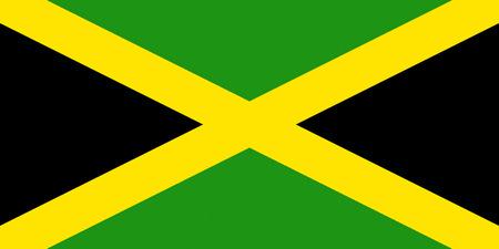 Flag of Jamaica. Reklamní fotografie