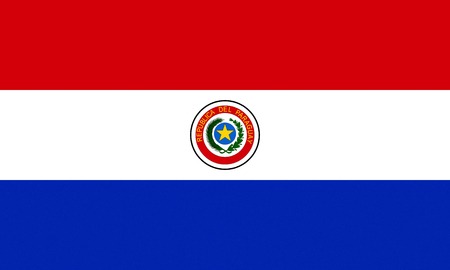National flag of the republic of paraguay.