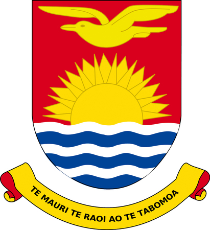 National coat of arms of the Republic of Kiribati.