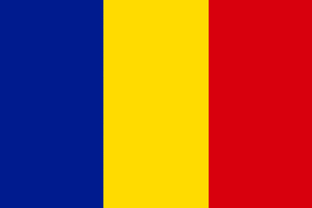 National flag of Romania. 写真素材