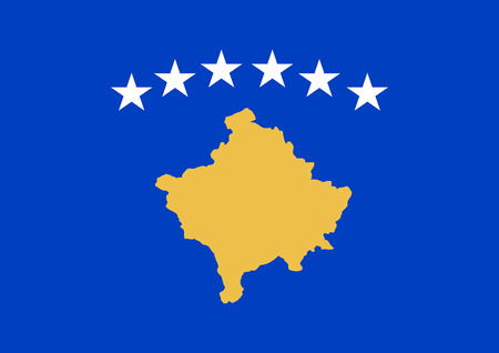 National flag of the Republic of Kosovo.