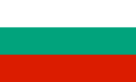 National flag of the Republic of Bulgaria.