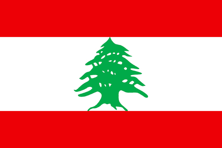 Flag of the Lebanese Republic.