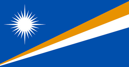 Flag of the Republic of the Marshall Islands.