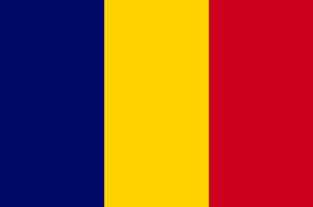 National flag of the Republic of Chad.