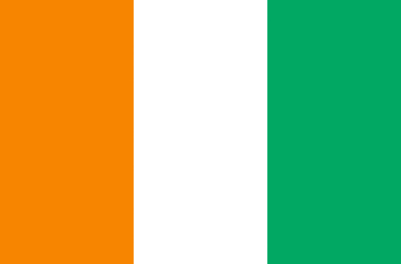 Flag of the Republic of Ivory Coast.