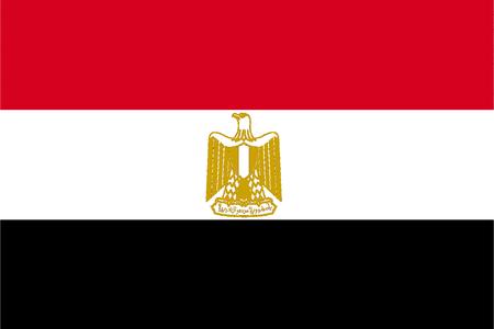 Flag of the Arab Republic of Egypt. Stock Photo