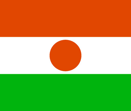 National flag of the Republic of Niger.