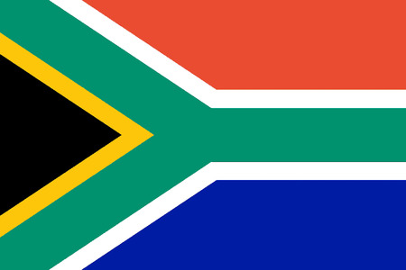National flag of the Republic of South Africa.