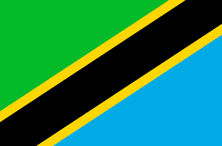 National flag of the United Republic of Tanzania.