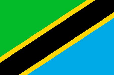 Nationalflagge der Vereinigten Republik Tansania.
