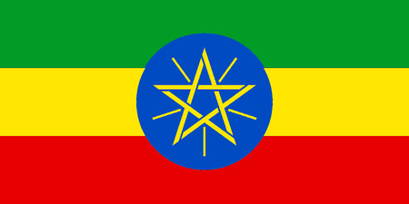 National flag of the Federal Democratic Republic of Ethiopia.