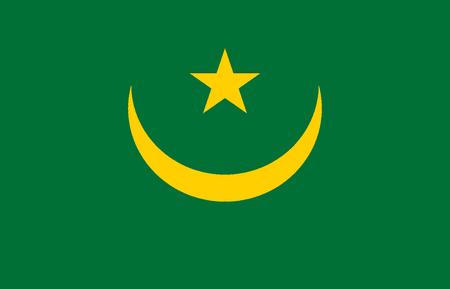 National flag of the Islamic Republic of Mauritania.