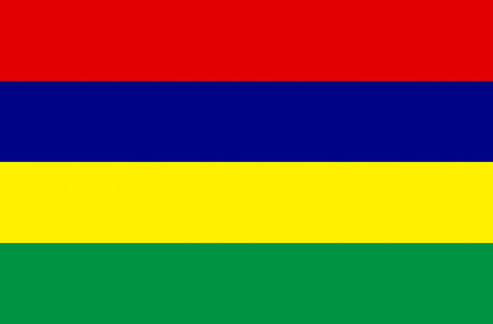 National flag of the Republic of Mauritius. Stock Photo