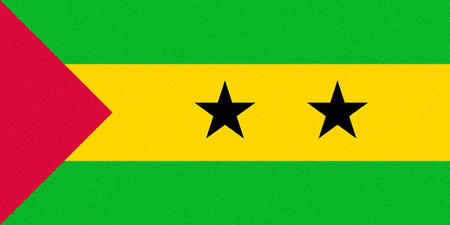 National flag of the Democratic Republic of Sao Tome and Principe. 写真素材