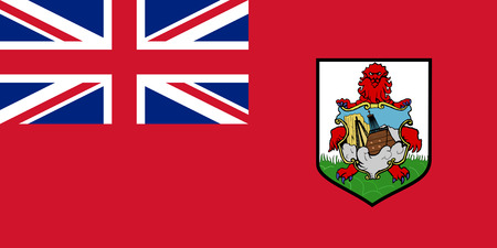 Flag of the British overseas territory Islands of Bermuda.