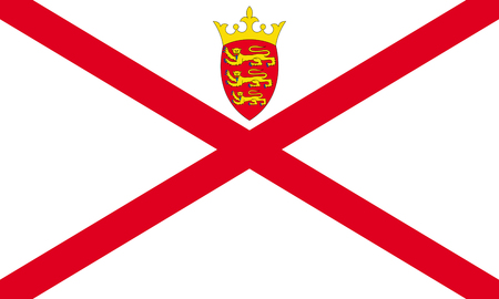 Flag of the British Crown Dependency Jersey. 写真素材