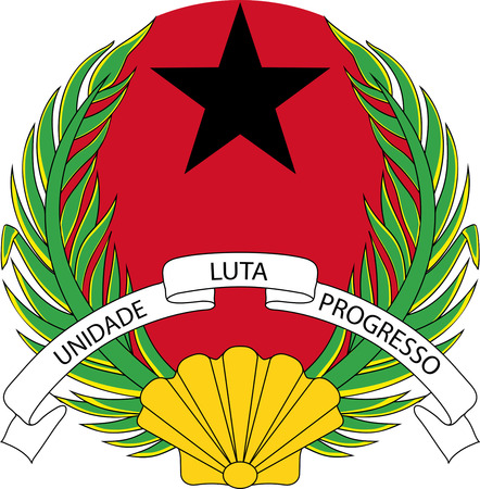National coat of arms of the Republic of Guinea-Bissau.