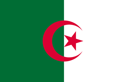 National flag of the Peoples Democratic Republic of Algeria.