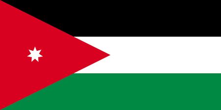 National flag of the Hashemite Kingdom Jordan.