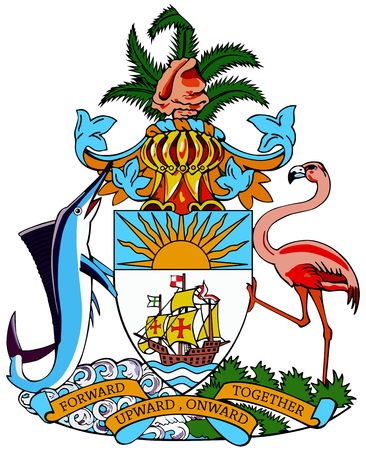 National coat of arms of the Commonwealth of Bahamas.