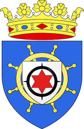 Coat of arms of the Caribbean island of Bonaire. Stock Photo