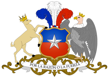 National coat of arms of the republic of Chile.