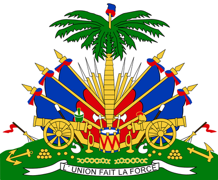 National coat of arms of Haiti. Standard-Bild