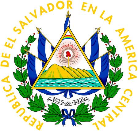 National coat of arms of El Salvador. Banco de Imagens