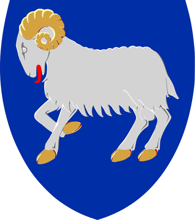 Coat of arms of the Faeroe Islands. 免版税图像