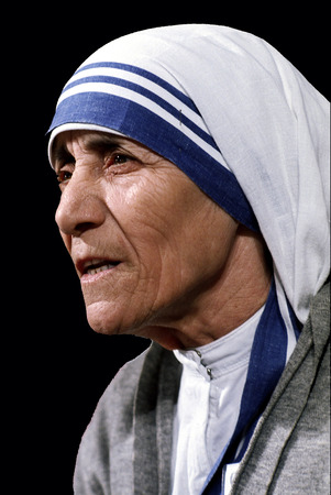 Mother Teresa - * 27.08.1910 - * 05.09.1997 - Catholic now of Albanian origin was born Agnes Gonxha Bojaxhio in today's Skopje. Stock Photo - 117057352